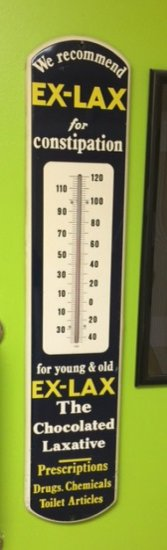 """EXLAX Thermometer - Large, HD Steel w/ Great Graphics - 38.5"""""""