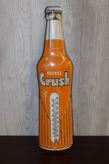 "Orange Crush Thermometer Bottle Shape, 29"" x 6.75"""