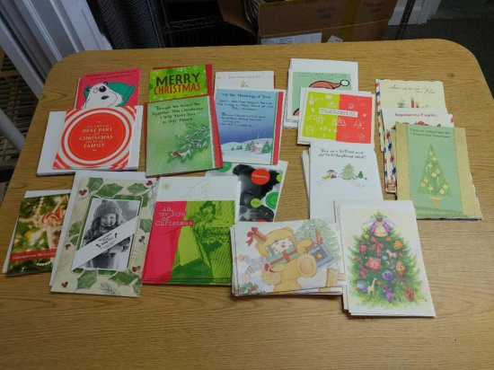 30+ Assorted Christmas Cards