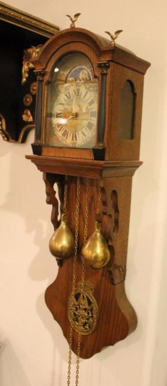Holland Weight Driven Wall Clock, Very Ornate