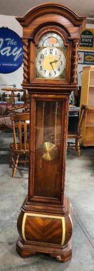 "Herschede Model 1223 Tall Case Clock w/ Herschede Movement w/ Paperwork, c. June 7, 1975, 78"" t"