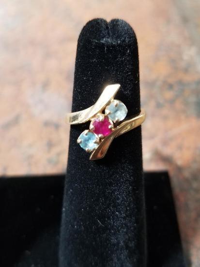 14k Gold Ring w/ Gemstones - 3.5 Grams