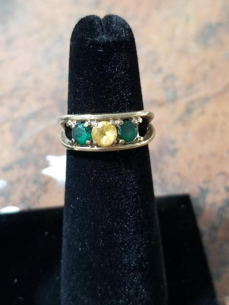 14k Gold Ring w/ Several Gemstones - 6.5 Grams
