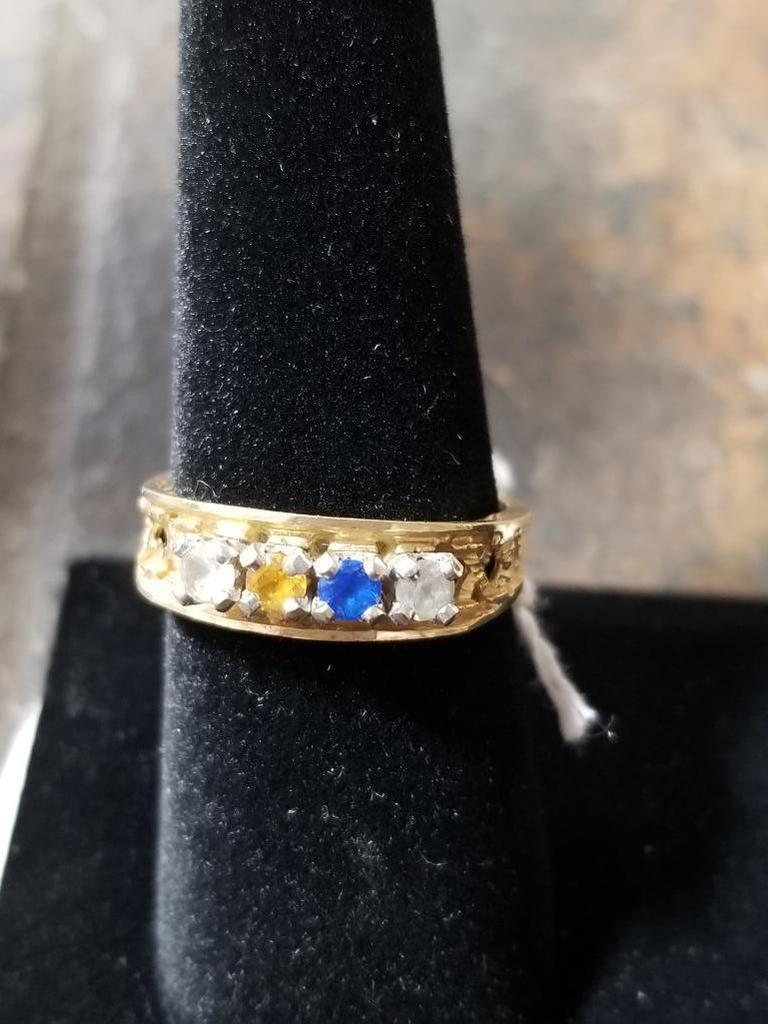 10k Gold Ring w/ Gemstones - 2.8 Grams