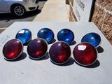 4 Inch Sealed Beam Bulbs, Color: Red, Blue