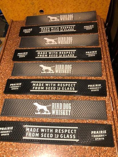 Lot of 8 Rubber Bar Mats, Bird Dog Whiskey, Prairie Spirits