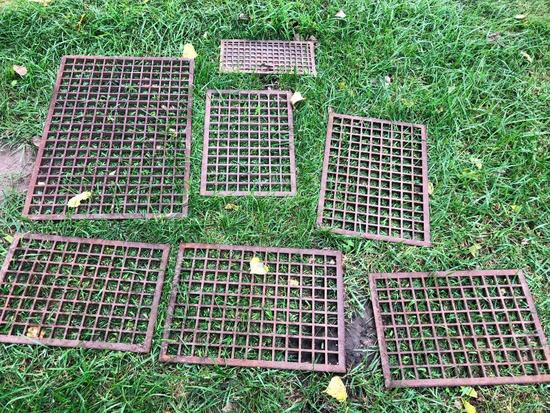 Lot of 5 Cast Iron Register Grates
