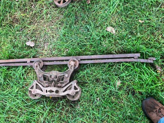 Cast Iron Hay Trolly w/ Rails