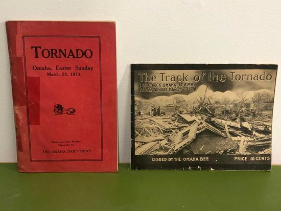Two 1913 Omaha Tornado Books, of the Period, Very Old
