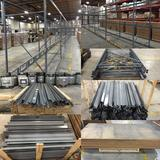 Warehouse Pallet Racking, Lg. Quantity Beams/Side Members, Uprights and Crossbars, 78 Sections, 624'