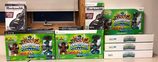 13 Video Games: SkyLanders for Xbox 360, PS3 & Wii, Rocksmith PS3 & Xbox 360