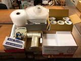 9 Reams of Letter Size Paper, Several Rolls Packing Tape, Bubble Wrap, Tape Guns, Scale