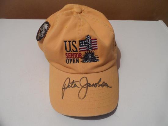 Peter Jacobsen Signed Autographed Hat from 2006 UP Senior Open
