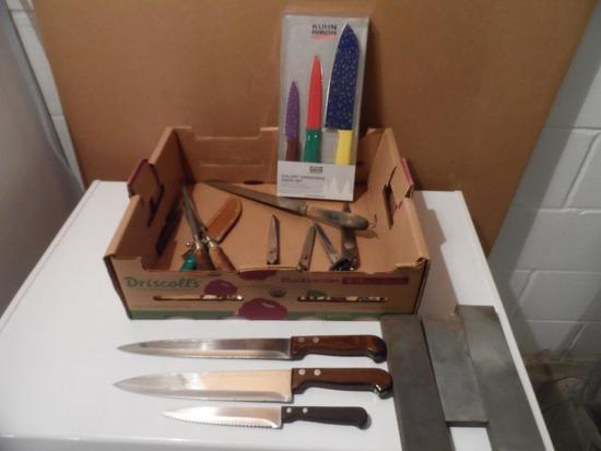 Knives, Scissors and Sharpening Stones
