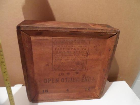 1898 Tobacco Box from St. Louis