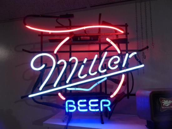 Neon Miller Beer Sign