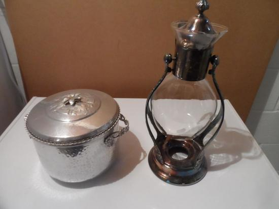 Vintage Aluminum Ice Bucket and Coffee Urn
