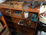 Cubby Hole Cabinet w/ Contents, Tools, Hardware, Hammers, Screwdrivers, Misc.
