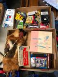 Two Boxes, Batteries, Native Doll, AutoBridge, Tommie Tippee Plate, Strap Handle