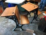 Lot of 2 Antique School Desks