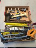 Two Boxes of Tools, Saws, New Saw Blades, Hand Tools