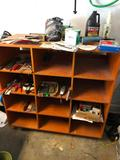 Cubby Hole Cabinet and Contents, Misc. Hand Tools, O-Ring Set, Shop Supplies, Cabinet Included