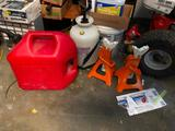 Gas Can, 1 Gallon Sprayer, Jack Stands
