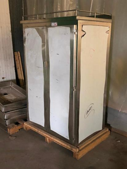 Stainless Steel Holding Cabinet w/ Shelves, 68in x 42in x 30in