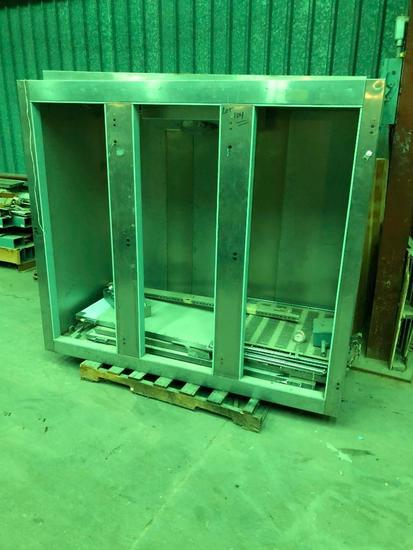 Utility Model 75-F-35-S (75) Stainless Steel 3 Door Freezer, Never Used