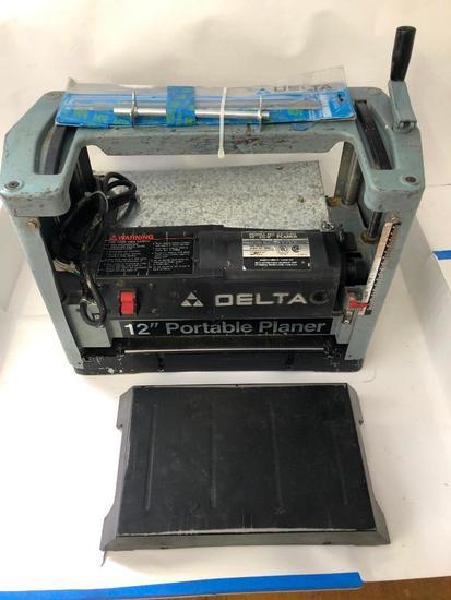 "DELTA, 12"" Portable Planer, Model 22-540, 12"" x 5.9"" capacity."