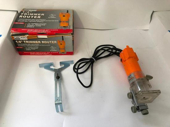 "CHICAGO ELECTRIC, Mode 44914 1/4"" Trim Router. Near new condition"