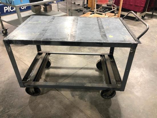 HD Steel Industrial Rolling Utility Cart, 30in x 50in x 34in High