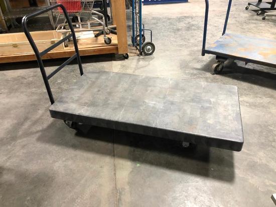 Rubbermaid HD Dock Cart / Utility Flatbed Cart, 60in x 30in
