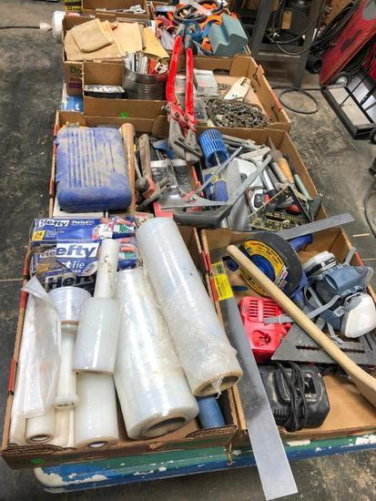 Supply Lot: Shrink Wrap, Trash Bags, Pencils, Misc. Hand Tools