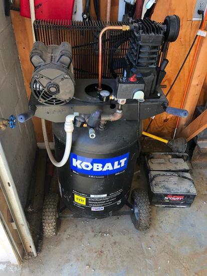 Kobalt 30 Gallon 2.0HP 155 Max PSI Vertical Air Compressor, 120v, Portable
