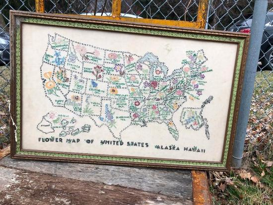 Sampler - State Flowers of the United States, Alaska and Hawaii