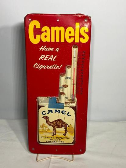 Embossed Camels Cigarettes Advertising Thermometer
