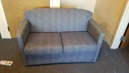 """AGI 5633 Jessa Two Seat Sofa 53""""Wx30""""Dx32.5""""H Maharam Rufina Midnight Blue"""