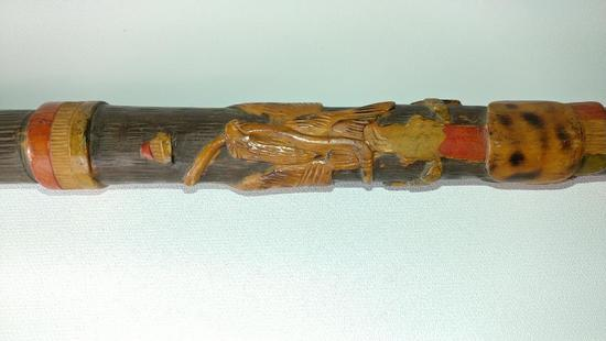 Wood Carved African or Native Cane