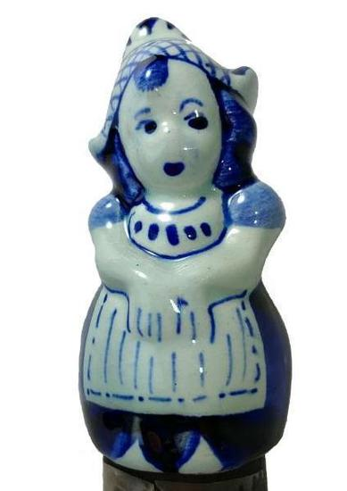 Figural Dutch Girl Porcleain or Ceramic Cane