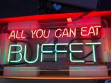 All You Can Eat Neon Sign, Two Colors