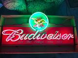 Budweiser Beer Neon Sign with A/Eagle Neon Logo Anheuser Busch, Large Sign
