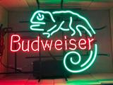 Budweiser Lizard Neon Sign w/ Two Color Neon and Lizard Outlined in Neon