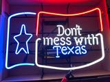 Don't Mess With Texas Neon Sign, Neon Texas Flag