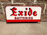 Exide Batteries - Battery Rack Sign Topper, 27in x 15in, SST, Single Sided Tin