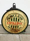 Sinclair Opaline Light Medium Motor Oil Rocker Oil Can, Pat. May 10 1927 St Louis Can Co STC 24 5 30