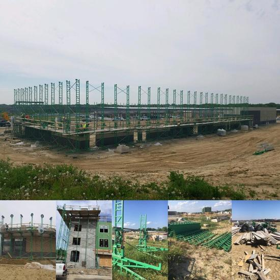 Complete Outfit of Non-Stop Scaffolding Industrial Masonry / Framing Scaffolding, See List Below