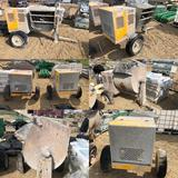 Stow Model: MS-63 Portable Concrete Mortar Mixers - Lot of 2 Sold Together for One Price