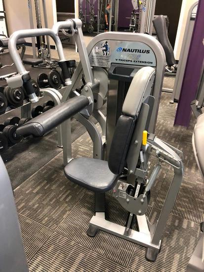 Nautilus Nitro Plus Selectorized Weight V Triceps Extension Machine