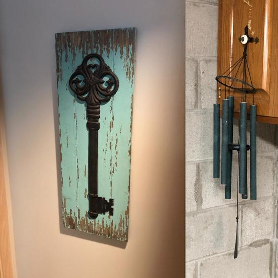 Wind Chime, Skeleton Key Canvas Print